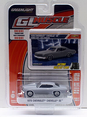 1:64  Greenlight Muscle Series 17 - 1970 Chevrolet Chevelle SS Primer Gray NICS