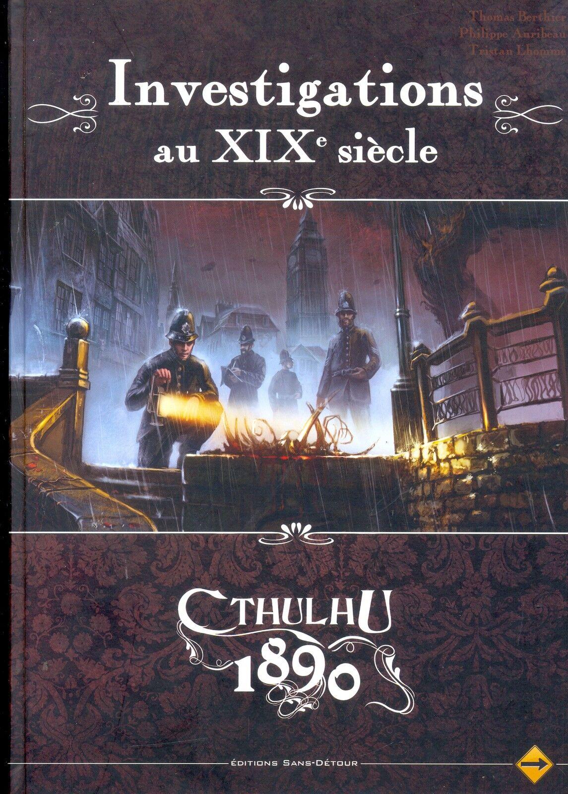 JDR RPG JEU DE ROLE   APPEL DE  CTHULHU V6 1890 INVESTIGATIONS AU XIXe SIECLE