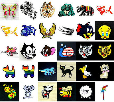 Choices of Animal Cartoon Cute Kid Iron On Patch Sew Applique Craft Embroidered