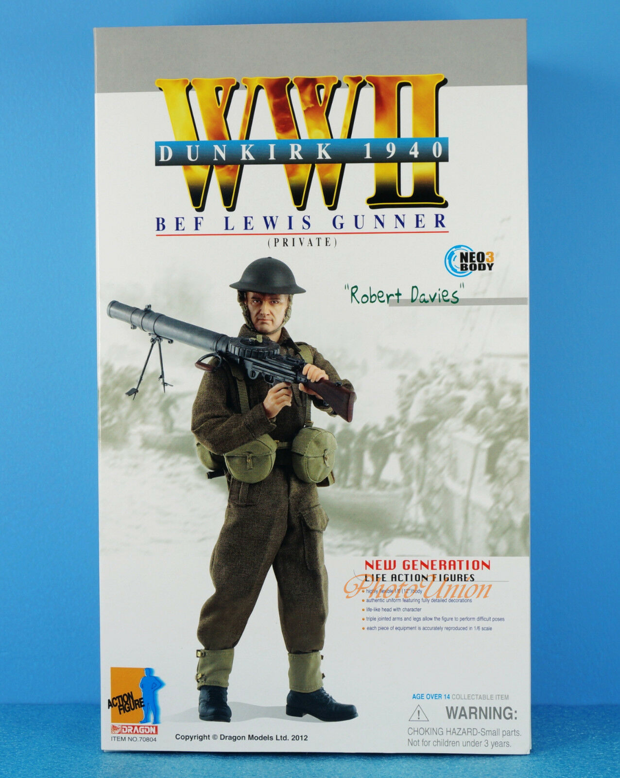 DRAGON 1:6 FIGUR WW2 British Expeditionary Force BEF LEWIS GUN Schütze 70804
