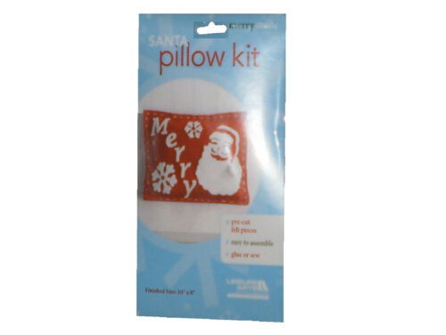 ~~ONE 1 CHRISTMAS SOCKING KIT OR SANTA PILLOW KIT PRE-CUT FELT EASY AND FUN!