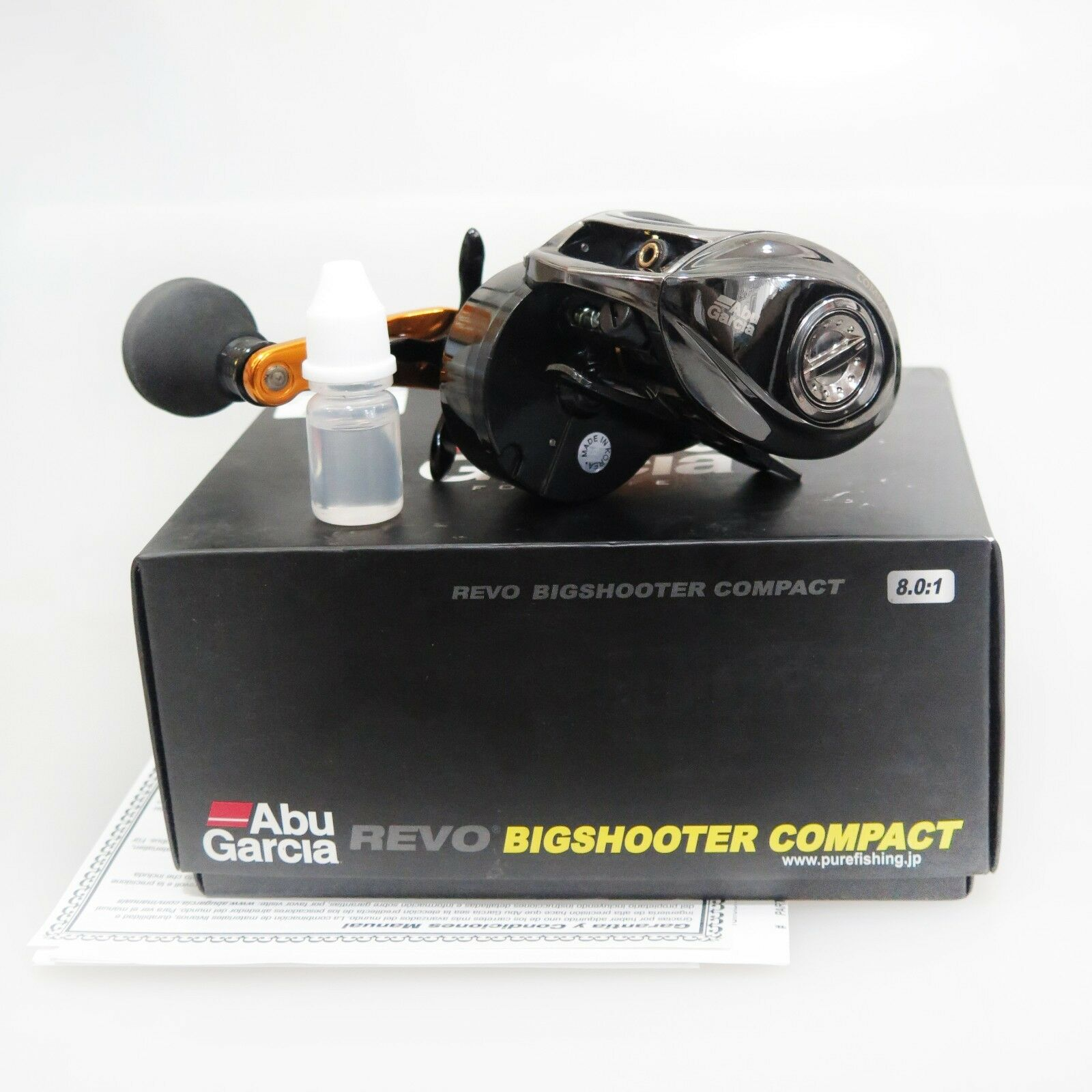 ABU GARCIA REVO BIGSHOOTER COMPACT Right Handle Reel Fedex priority 2day to US