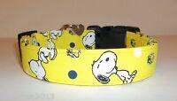 Snoopy Terri's Dog Collar Custom Made Adjustable Charming Yellow Woodstock