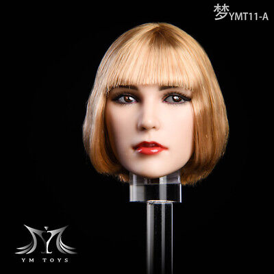 """YMTOYS YMT11A 1:6 Head Carved Short Hair F 12/"""" Female Action Figure"""
