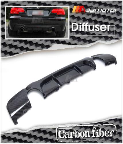 P Style Carbon Fiber Diffuser Dual for BMW E92 Coupe 335i M Tech M Sport Bumper