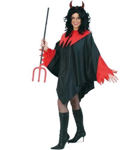 Cape Diavolo Kostüm XXL Teufelsumhang Teufel schwarz rot Halloween 12270413