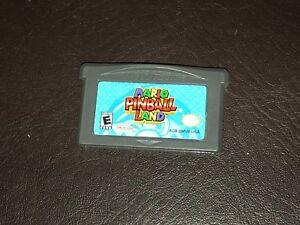 Mario-Pinball-Land-Nintendo-Game-Boy-Advance-GBA-Cleaned-amp-Tested