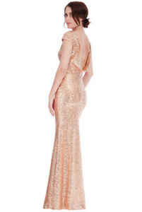 Goddiva-Champagne-Sequin-Open-Back-Long-Maxi-Bridesmaid-Prom-Evening-Party-Dress