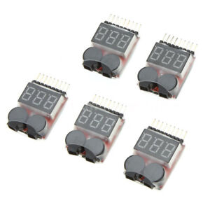 Diret 5X 1-8S Indicator RC Lipo Battery Tester Low Voltage Buzzer Alarm Z3Y5