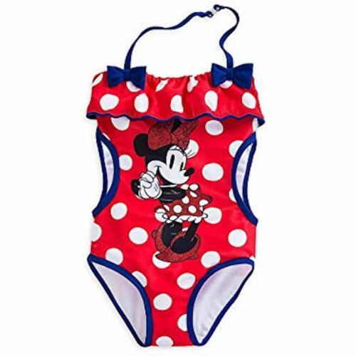 Disney Store Minnie Mouse RED Polka Dot 1pc Tutu swimsuit bathing suit Trikini
