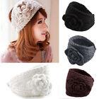 Knitted Headband Women Crochet Winter Flower Ear Warmer Hairband Headwrap
