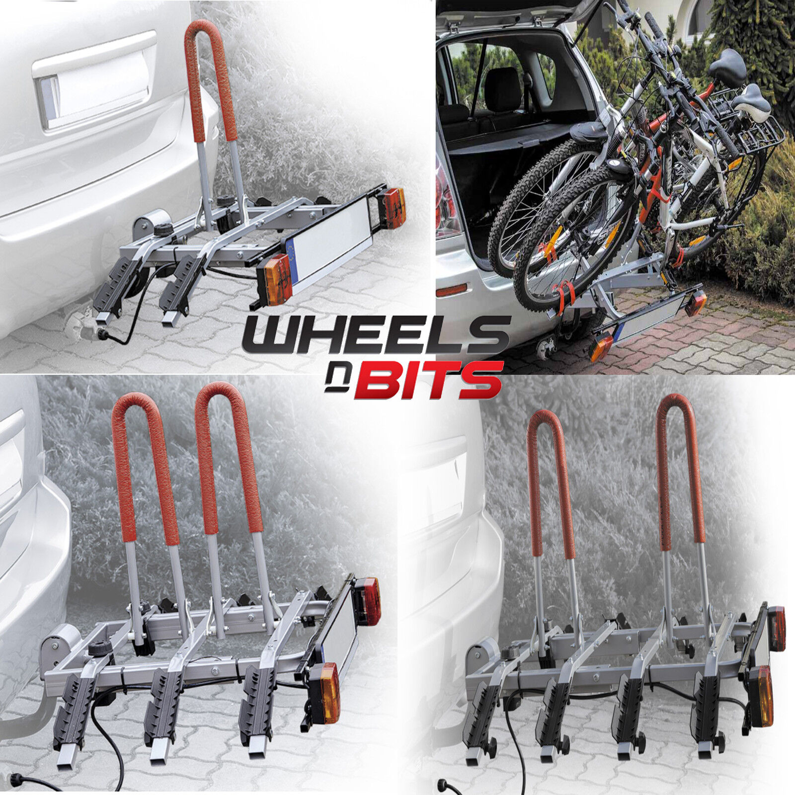 2,3,4 Vélo Porte Support Barre de Toit Plateforme Orteil Boule Attelage 50mm