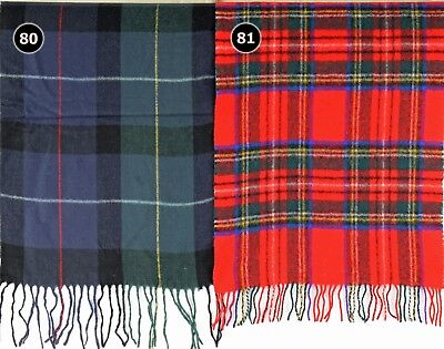Sciarpa tartan morbido con motivo a Plaid Check scialle di lana lana acrilica SCOZIA 068-069
