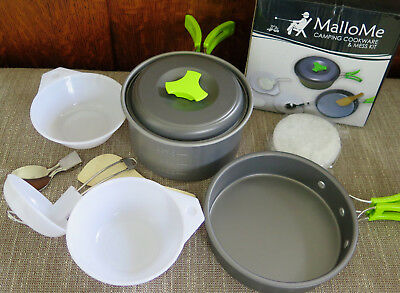 G4Free Outdoor Camping pan Hiking Cookware Backpacking Cooking Picnic Bowl Pot P