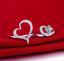 Anello-Fede-Fedina-Anelli-Fidanzamento-Cuore-Spezzato-Love-Solitario-Idea-Regalo miniatura 3