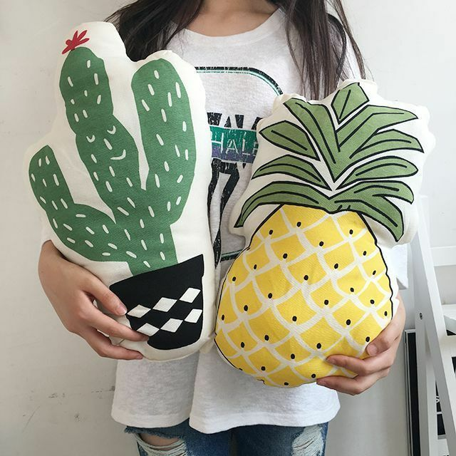 Pineapple Cactus Food Snack Shape Plush Pillow Cushion Home Decor Party FreeShip