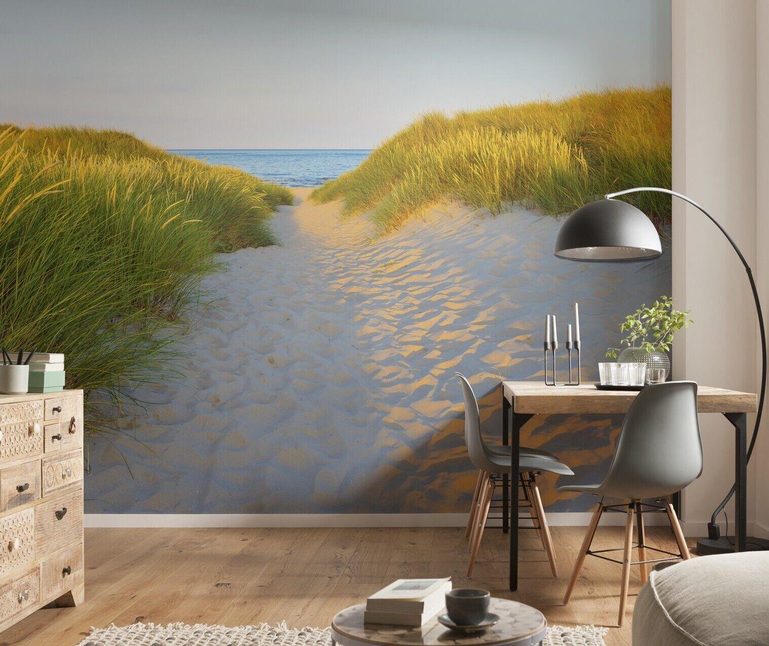 368x254cm Giant Wall mural wallpaper living room decor Seaside beach scene