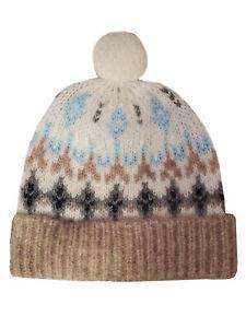 Rag & Bone Alpaca Wool Women Winter Beanie Warm Pom Hat Ladies Fashion Cap