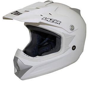 LAZER-X6-X-LINE-YOUTH-HELMET-WHITE-KIDS-JUNIOR-MOTOCROSS-MX-OFF-ROAD-CHEAP-NEW