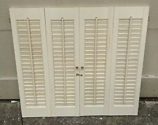 "28"" T x 31 1/2"" W VTG Colonial Wood Interior Louver Plantation Window Shutters"