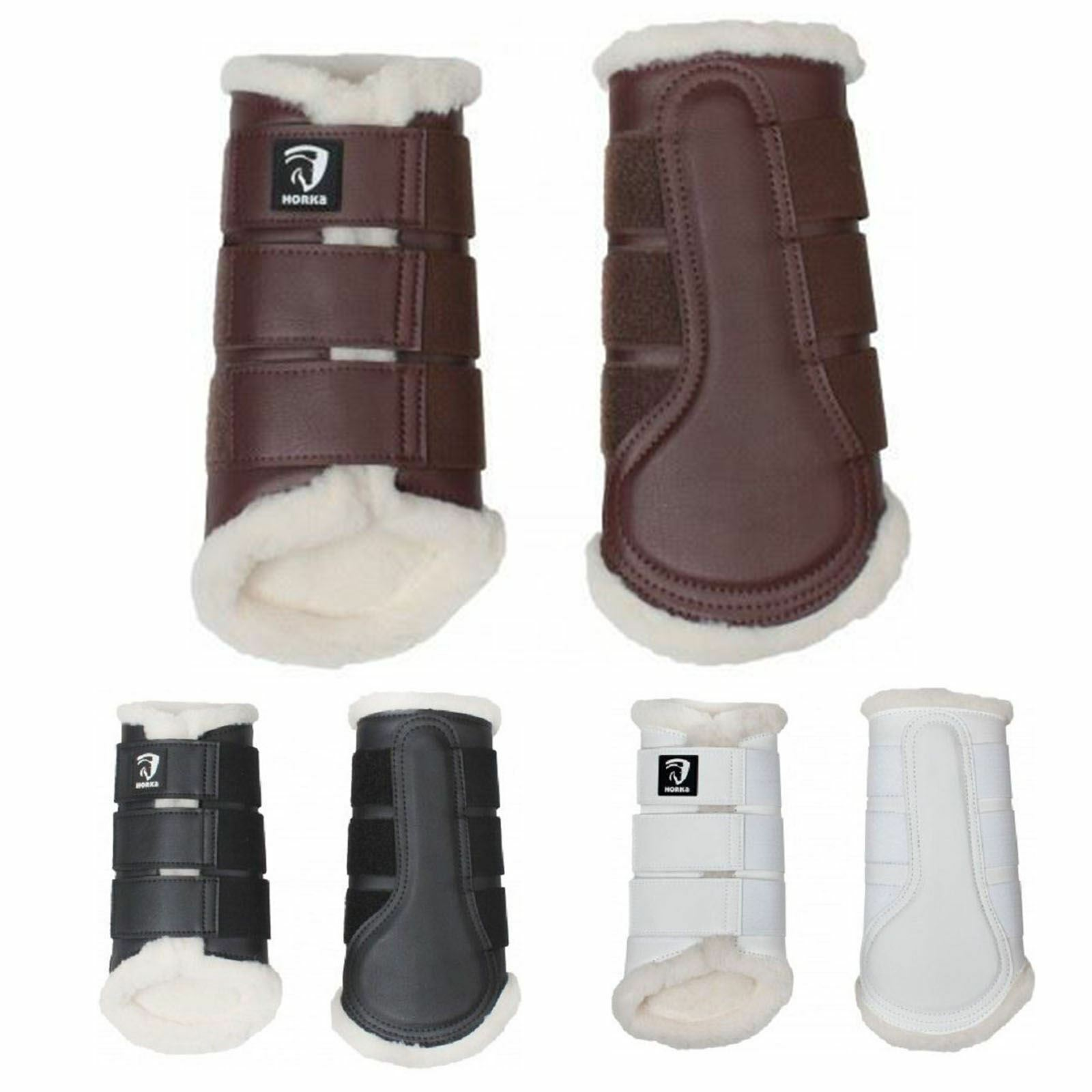Horka Fur Horse Riding Equine Stylish Comfortable Soft Predective Brushing Boots
