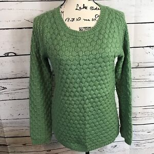 Details about Anthropologie Field Flower Waffle Knit Pullover Sweater Green XS