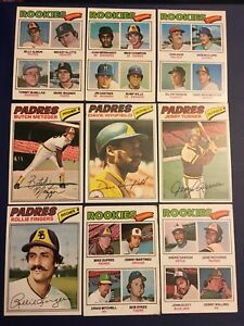 1977-Topps-SAN-DIEGO-PADRES-Complete-Team-Set-32-Master-Set-DAWSON-RC-LOOK