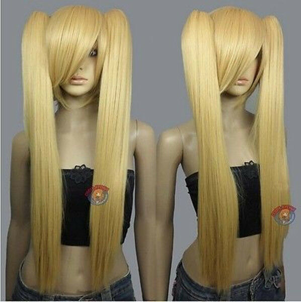 Heath stylable Beige Blonde Cosplay DNA Wig with Clip-on Ponytail