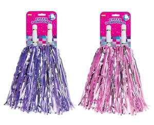 Cheerleader Pom Poms Waver Fancy Dress Costume Pompoms Dance Hen Party Accessory