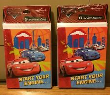 Cars 2 Pack 16 Invitations Cards Hallmark Party Supplies Disney Pixar New