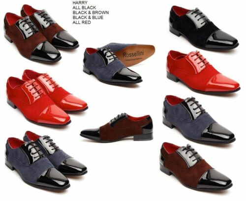 Harry Mens Shoes Faux Shiny Leather Pointed Casual Formal Shoe Party Wedding