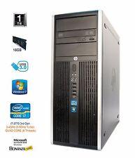 HP Compaq 8300 Elite CM Desktop Tower   i7-3770 3.4GHz QUAD   16GB RAM 1TB HDD
