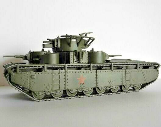 1 72 T-35 Soviet tank WWII model DIE CAST 18 Eaglemoss