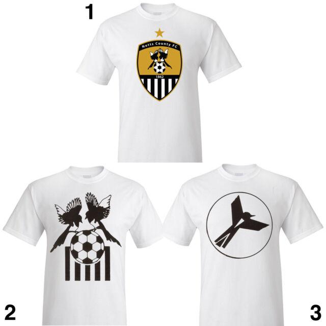 NOTTS COUNTY FC Fan T-shirt magpies retro vintage nottingham S M L XL 2XL 3XL
