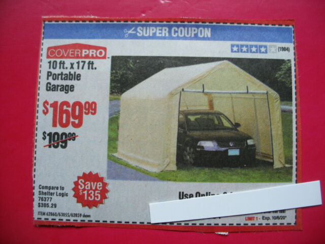 Coupon to save $ on 10 Ft x 17 Ft Portable Garage @ Harbor ...