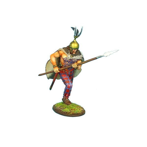 First Legion  ROM084 Gallic Warrior Charging with Spear