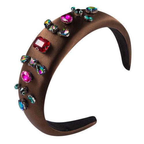 Beautiful Ladies Baroque Fabric Sponge Diamond Headband Hair Band Hair Accessory