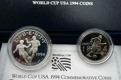 1994 P World Cup Soccer Proof Copper Half Dollar Commemorative Coin Box and COA