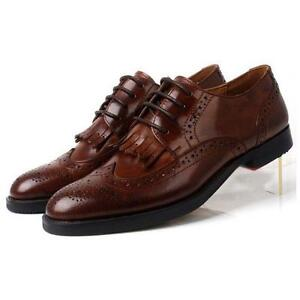 Women-flats-Wing-Tip-Lace-Up-Leather-Formal-Dress-Oxfords-Brogue-ladies-Shoes