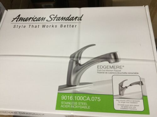 American Standard Kitchen Faucet Pull-Out Stainless Steel Edgemere Collection.