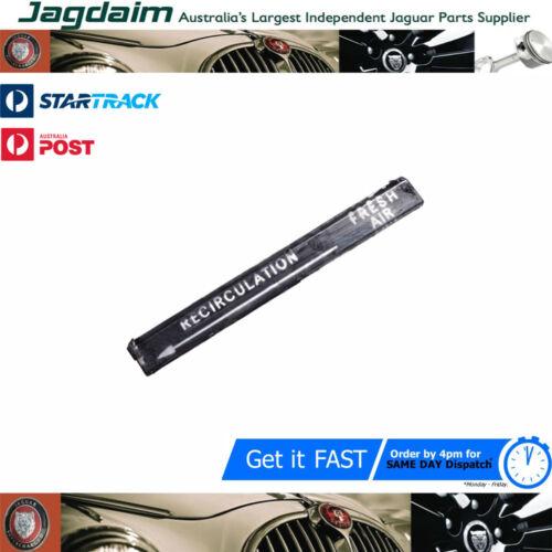 New Jaguar XJ12 XJ6 S1 Heater Controls Insert Strip BD37458