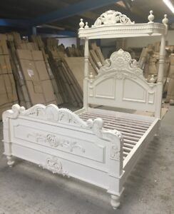 Image Is Loading 5 039 King Size Four Poster Bed Victorian