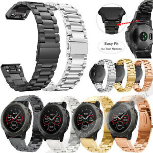 Quick Release Stainless Steel Watch Band Strap For Garmin Fenix 5 5s