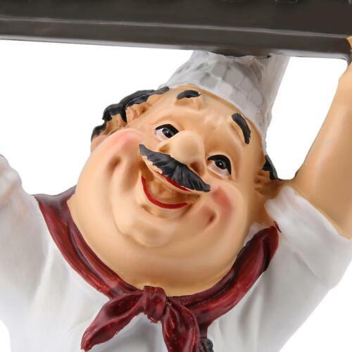 Home Bar Restaurant Kitchen Decoration Chef Figurine Statue Welcome Board Craft