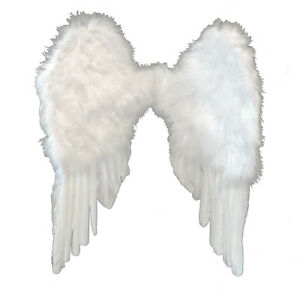 White Fairy Angel Heaven Feather Wings Fancy Dress Costume Accessory Photo Prop by J Hats