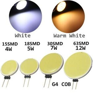 G4-4W-5W-7W-12W-LED-COB-Stiftsockel-Gluehbirne-Leuchtmittel-Spotstrahler-DC12V