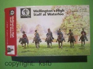 1-72-Waterloo1815-101-Napoleon-Wellington-039-s-Stab-Zinnfiguren-Figuren-Soldaten