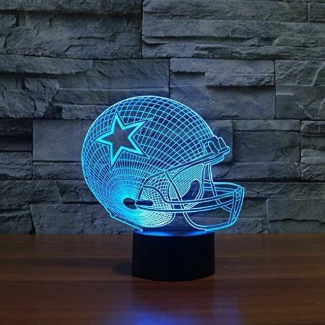 Dallas Cowboys Light Up 3d Helmet Lamp, Dallas Cowboys Lamps