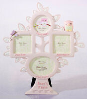 Pink Or Blue Owl First Year Tree Picture Frame Baby Gift Baby Shower Gifts