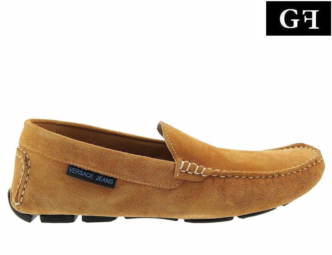 VERSACE JEANS Mokassin Herren Men Halbschuhe Shoes Braun Brown Made in ITALY